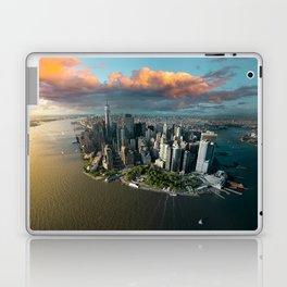 Aerial view of lower Manhattan, New York City Laptop & iPad Skin