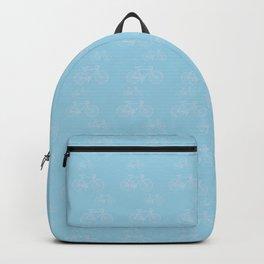 Blue Vintage Road Racing Bicycle Pattern Backpack