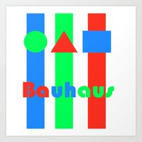 bauhaus Art Prints featuring Bauhaus by Retale