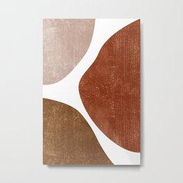 Terracotta Art Print 1 - Terracotta Abstract - Modern, Minimal, Contemporary Abstract - Brown, Beige Metal Print