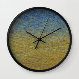 Wheatfield with Lines Wall Clock