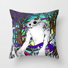 ELEMENTAL YETI Throw Pillow