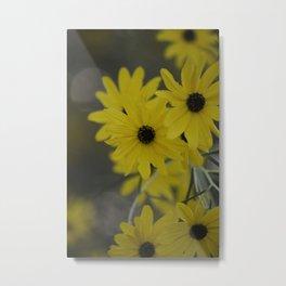 Beauty In Yellow Metal Print