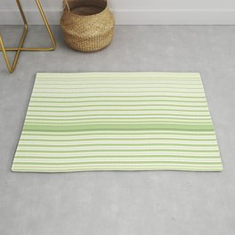 Light Green Stripes Rug