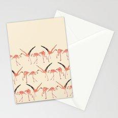 vanilla flamingos Stationery Cards