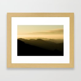 Layered Two Framed Art Print