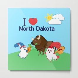 Ernest and Coraline | I love North Dakota Metal Print