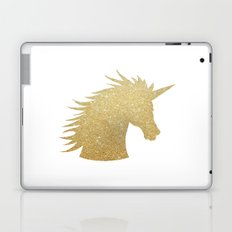 Gold Glitter Unicorn Laptop & iPad Skin
