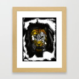 "Zebra Vs Tiger ""Zeger"" Framed Art Print"