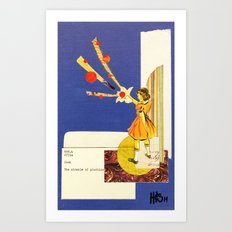 Composition on Blue Art Print