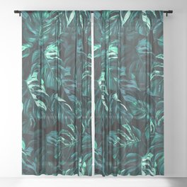 TROPICAL GARDEN XII Sheer Curtain