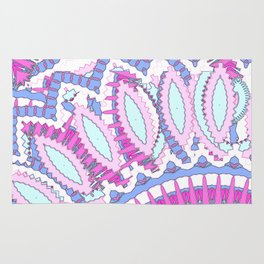 Mandala Explosion in Pink & Purple Rug