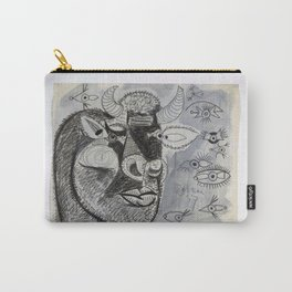 Pablo Picasso Bull Painting 1937 Artwork for Prints Posters Tshirts Bags Men Women Youth Carry-All Pouch
