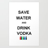 vodka Art Prints featuring Drink Vodka by Lyre Aloise