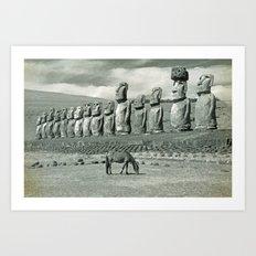 EASTER ISLAND VISTA Art Print