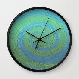 Fantasy spiral | Blue green | Sea waves graphic Wall Clock