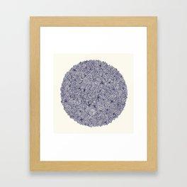 Held Together - a pattern of navy blue doodles Framed Art Print