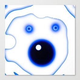 Wide Blue Eyed Polar Bear Canvas Print
