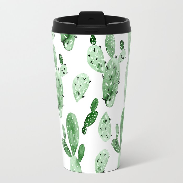 Green Cactus Field - Large Travel Mug