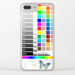 Test Color Sample Clear iPhone Case