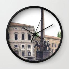 PALAZZO DEL QUIRINALE, Rome Travel Sketch by Frank-Joseph Wall Clock