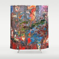 basquiat Shower Curtains featuring I Awoke Thinking Basquiat by Fernando Vieira