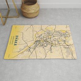 Dhaka Yellow City Map Rug