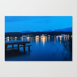 Wörthersee in Austria at Night Canvas Print