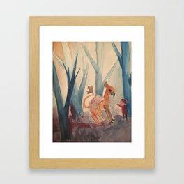 Beast in the Woods Framed Art Print