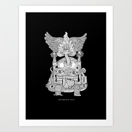 TOTEM - KNOCKOUT Art Print