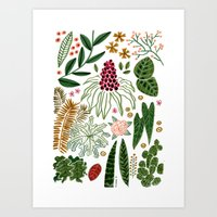 plants Art Prints featuring Plants by Roxanne Bee