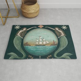 Sirens of the Sea by Donna Atkins Rug