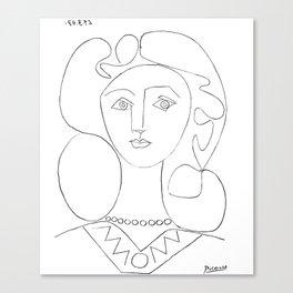 Pablo Picasso La Femme Au Collier (Woman With A Necklace) Canvas Print