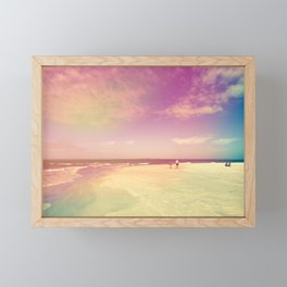 Dancing Waves, Floating Clouds Framed Mini Art Print