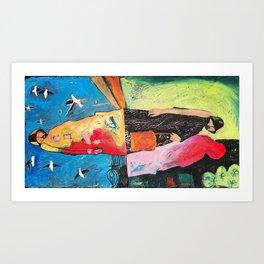 Three figures Art Print