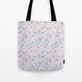 Pink Flower Confetti Tote Bag