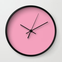 Pastel Pink Solid Color Pantone Prism Pink 14-2311 Accent to Color of the Year 2021 Wall Clock
