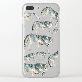 Canis lupus albus (c) 2017 Clear iPhone Case