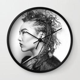 Warrior Within Wall Clock