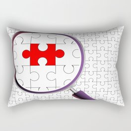 Odd Piece Magnifying Glass Rectangular Pillow
