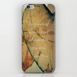 The Voice Of Your Heart Whispers To My Soul - Wind Chimes - Rustic - Wedding - Farmhouse iPhone Skin