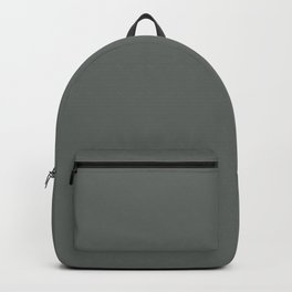 Best Seller Dark Muted Green Grey Solid Color Inspired by Jolie Paint 2020 Color of the Year Legacy Backpack