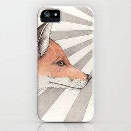 Fox in the sunlight iPhone Case