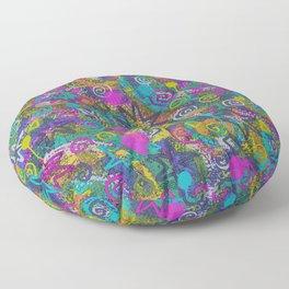 Starz n Splatz in YeLLoW PiNk AqUa Floor Pillow