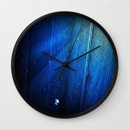 Raindrop on Blue Web Wall Clock