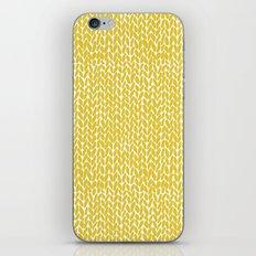 Hand Knit Yellow iPhone Skin