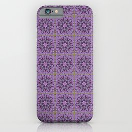 Tiled Abstract Of Pink Hydrangea Flowers iPhone Case