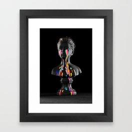 The Girl With Stars In Her Eyes (On Black) Framed Art Print