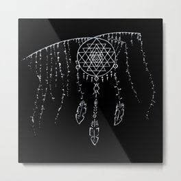 Shri Yantra / Dream Catcher Metal Print