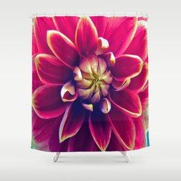 Happy Dahlia Shower Curtain